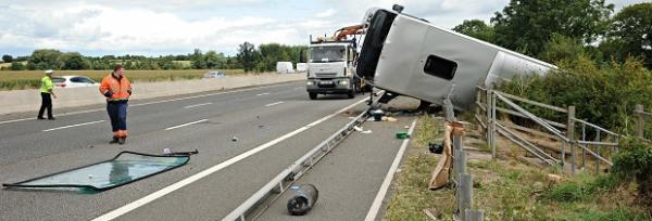 Several people suffer minor injuries in M5 coach crash