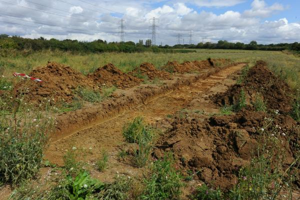 Work has begun on the land by Chesterton Farm