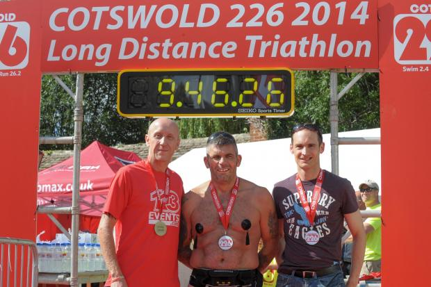 Competitors who took part in the Cotswold 226 triathlon (9609080)