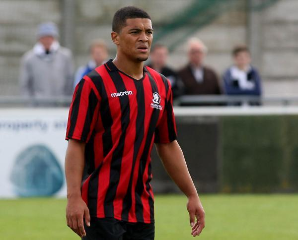Striker Nat Jarvis scored with two headers for Cirencester before going off injured
