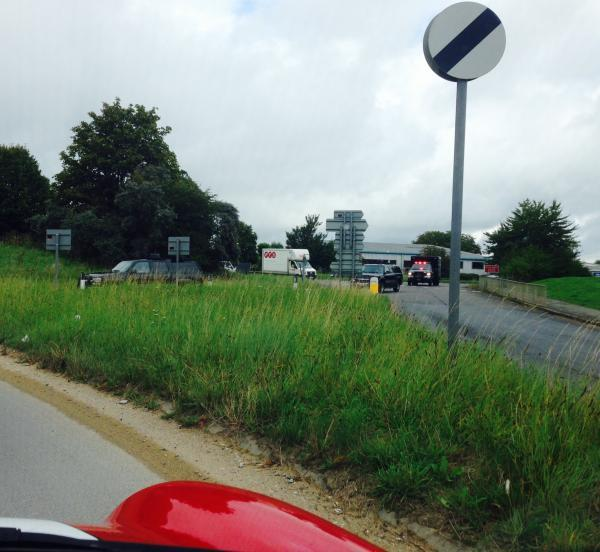 Police convoy spotted travelling around the Cirencester roundabout, near the fire station. Picture by Joe Harris