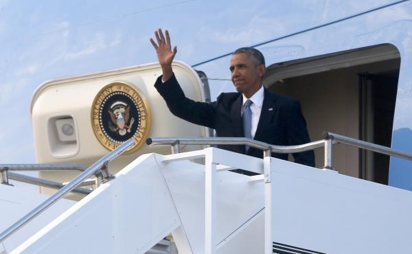UPDATED: President Obama has landed at RAF Fairford