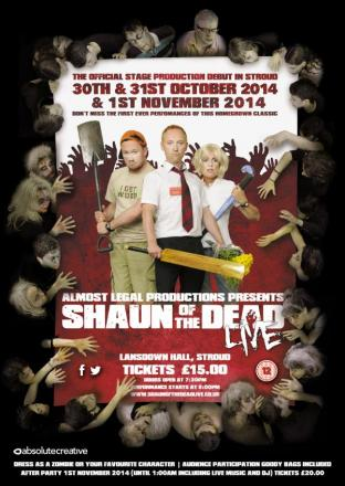 Shaun of the Dead to be staged by Stroud theatre company after Simon Pegg gives permission