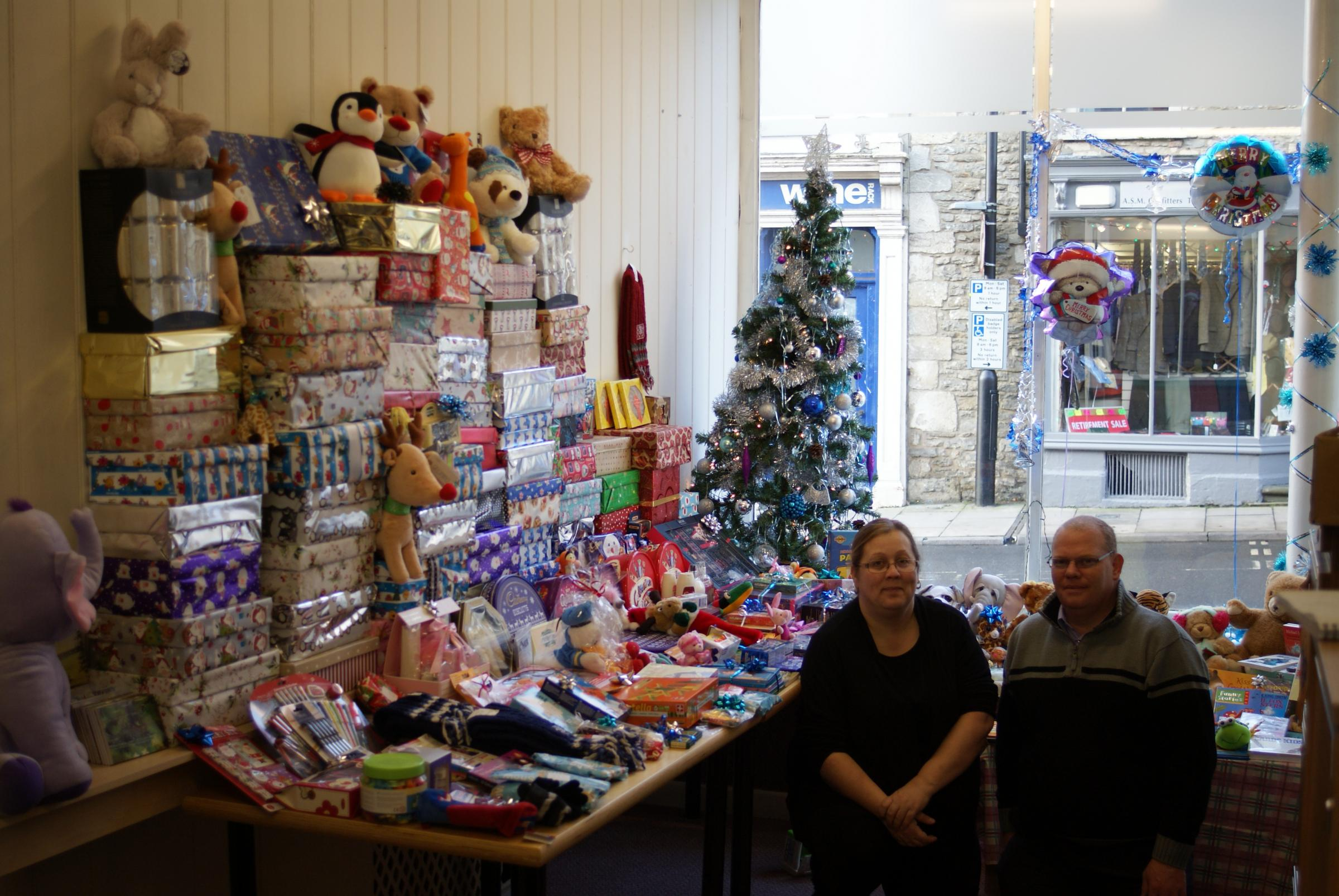 HEALS Malmesbury collects more than 70 Christmas shoeboxes for victims of domestic violence