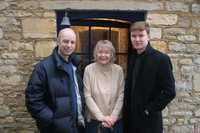 Phil Cook, Daphne Neville and George Collings on location