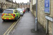 The scene at Queen Street in Cirencester