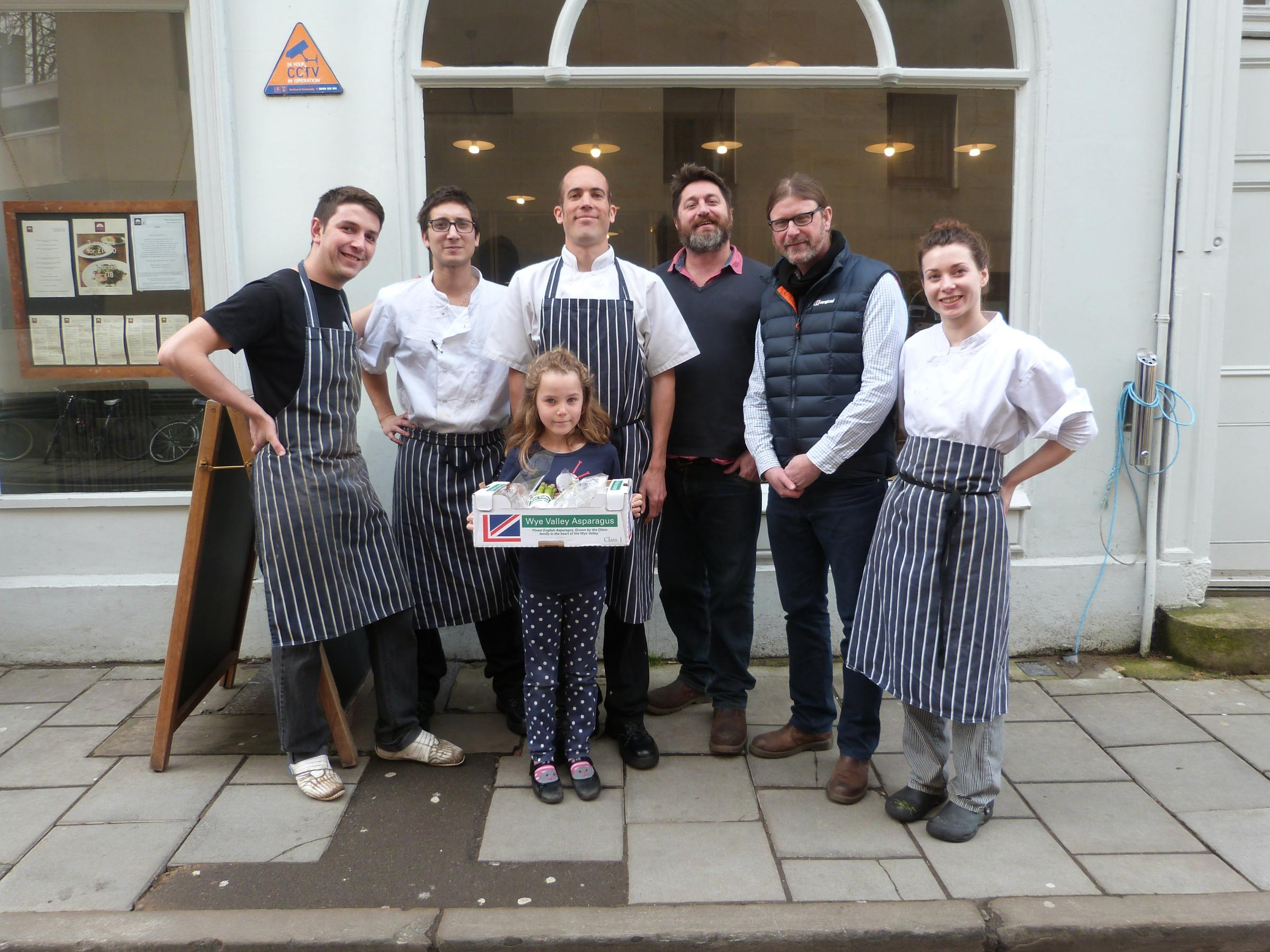Staff at Turl St. Kitchen in Oxford with the New Wave Seafood team