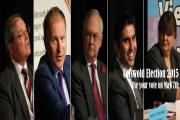 The five candidates vying for parliament