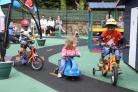 Youngsters taking part in a charity ride for the NSPCC at Meadowpark school and nursery in Cricklade