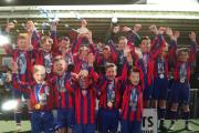 The successful Croft Red U11s football side