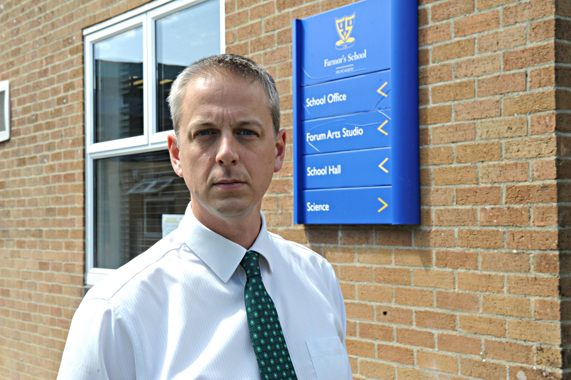 Matthew Evans, headteacher at Farmor's School in Fairford