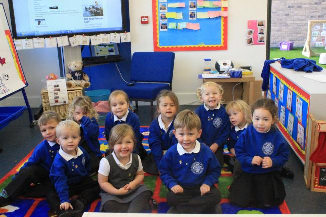 The first recruits to the pre-school class at Watermoor Primary School