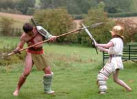 Wilts and Gloucestershire Standard: Roman gladiators at Chedworth Roman Villa