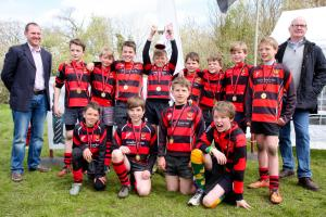 Cirencester RFC U11s, one of the trophy wnners at the club's long-running youth 7s tournament last year