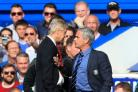 Jose Mourinho, right, has clashed with Arsenal manager Arsene Wenger, left, on several occasions