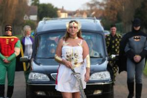 Teenager who loved comic books given superhero send-off at funeral