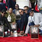 Wilts and Gloucestershire Standard: 80s group New Edition presented with Hollywood Walk of Fame star