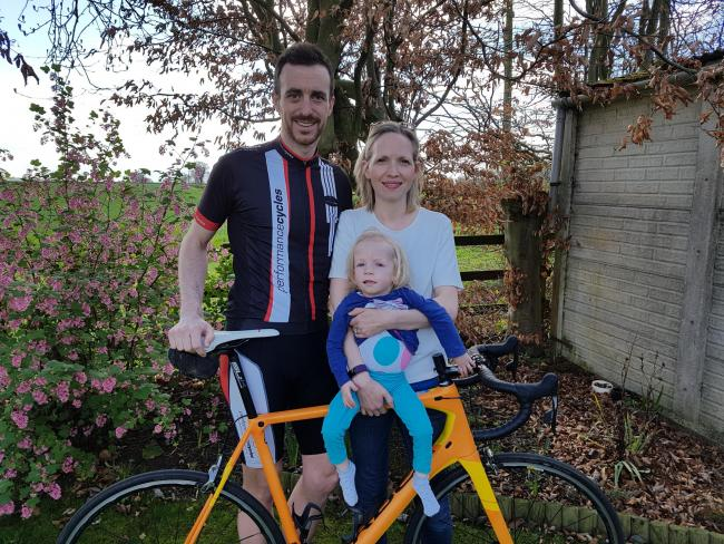 Cirencester father saddles up for charity that support his daughter