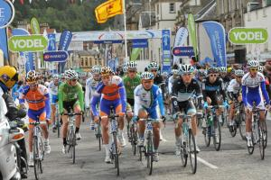 The Tour of Britain in Peebles in 2011