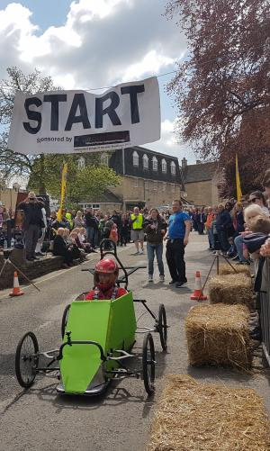 Wilts and Gloucestershire Standard: Crowds gathered in the small Cotswold town of Tetbury to watch carts hurtle down a hill at the town's Wacky Races. Read more here.