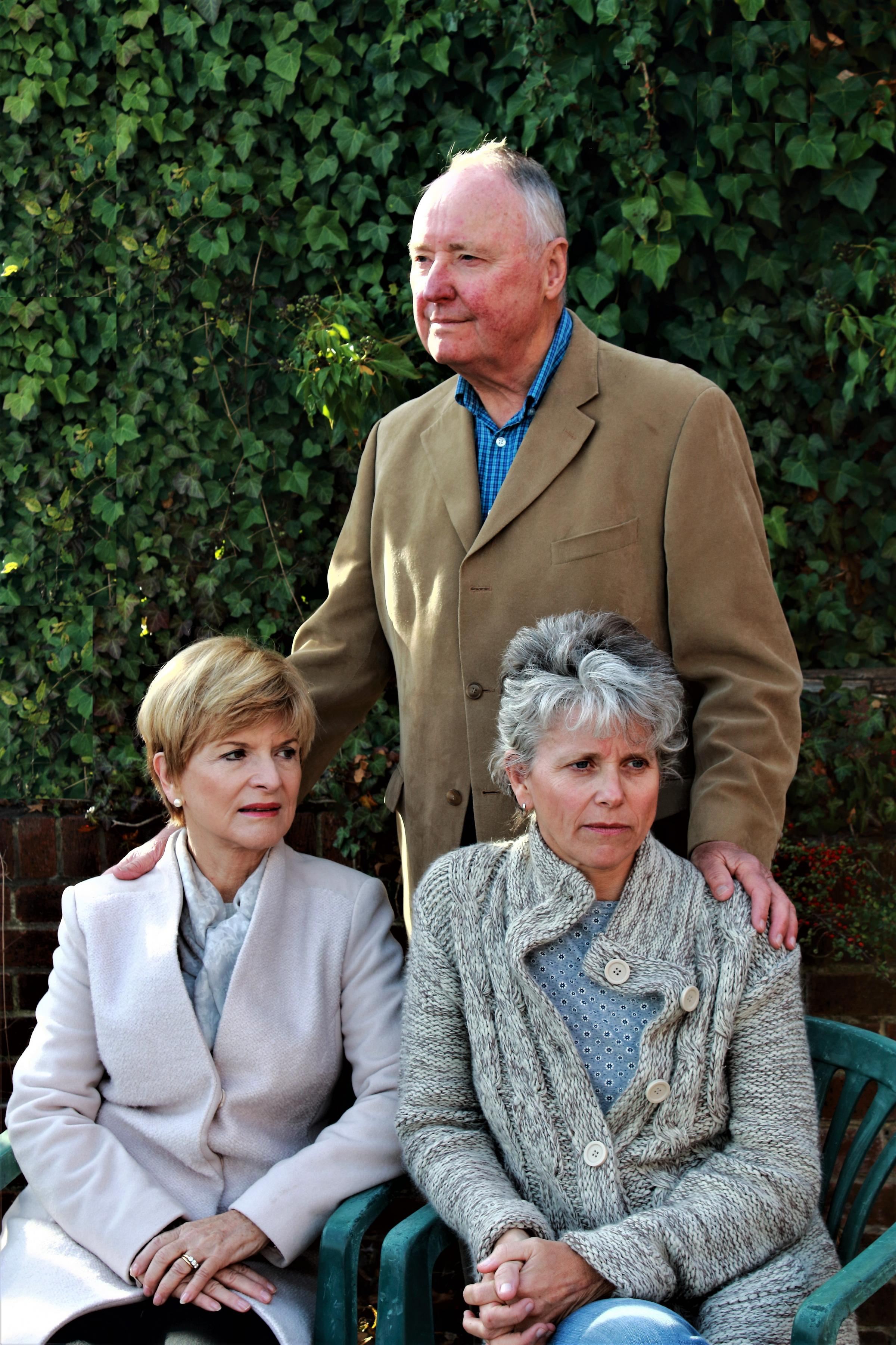 Entertaining Angels cast left to right: Sue Taylor (Grace), Derek Perry (Bardolph) and Bettie Heckford (Ruth)