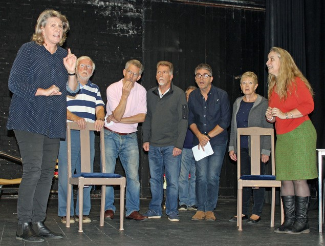 The Cotswold Players rehearse their latest production
