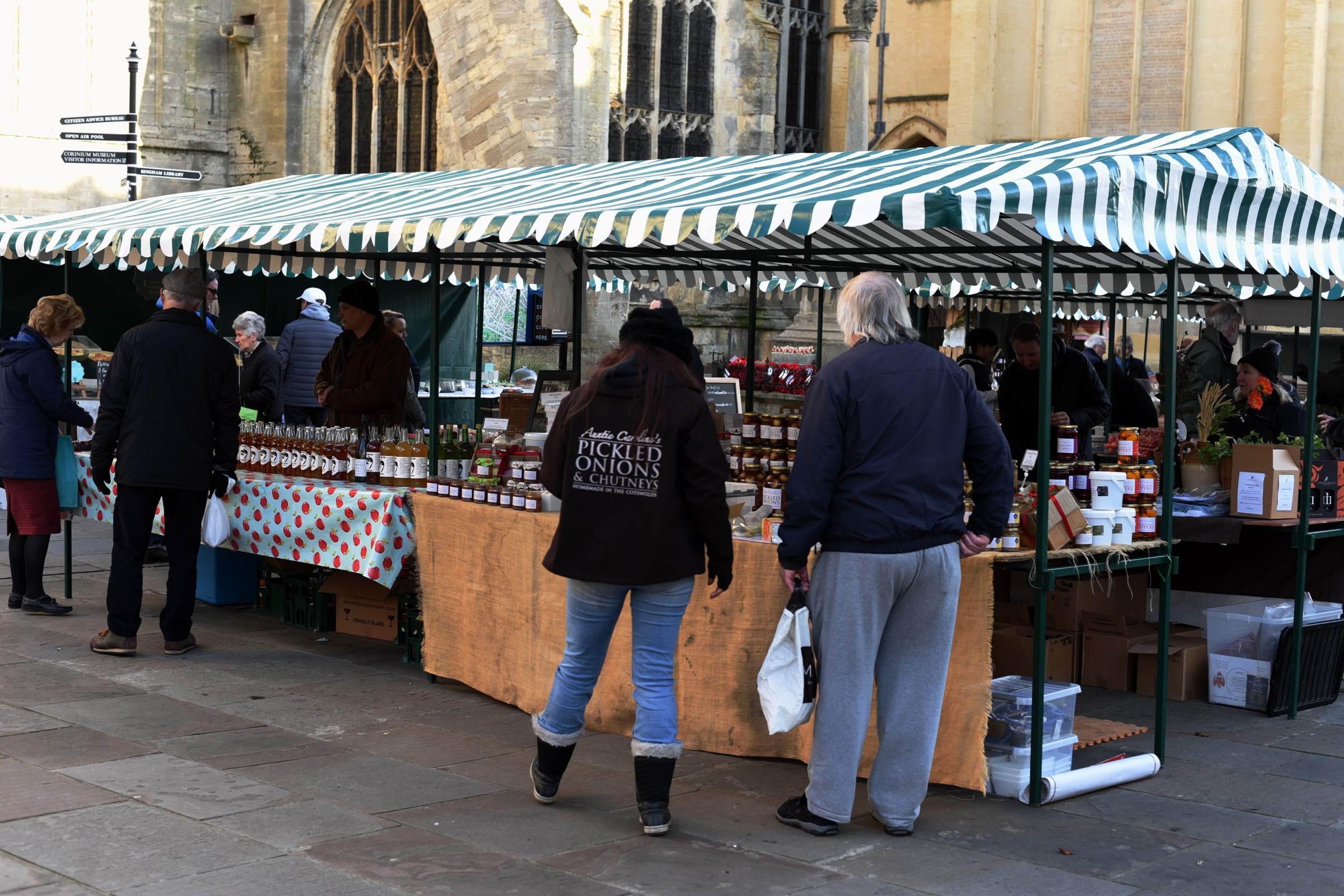Cirencester Market Place, Farmers Market.