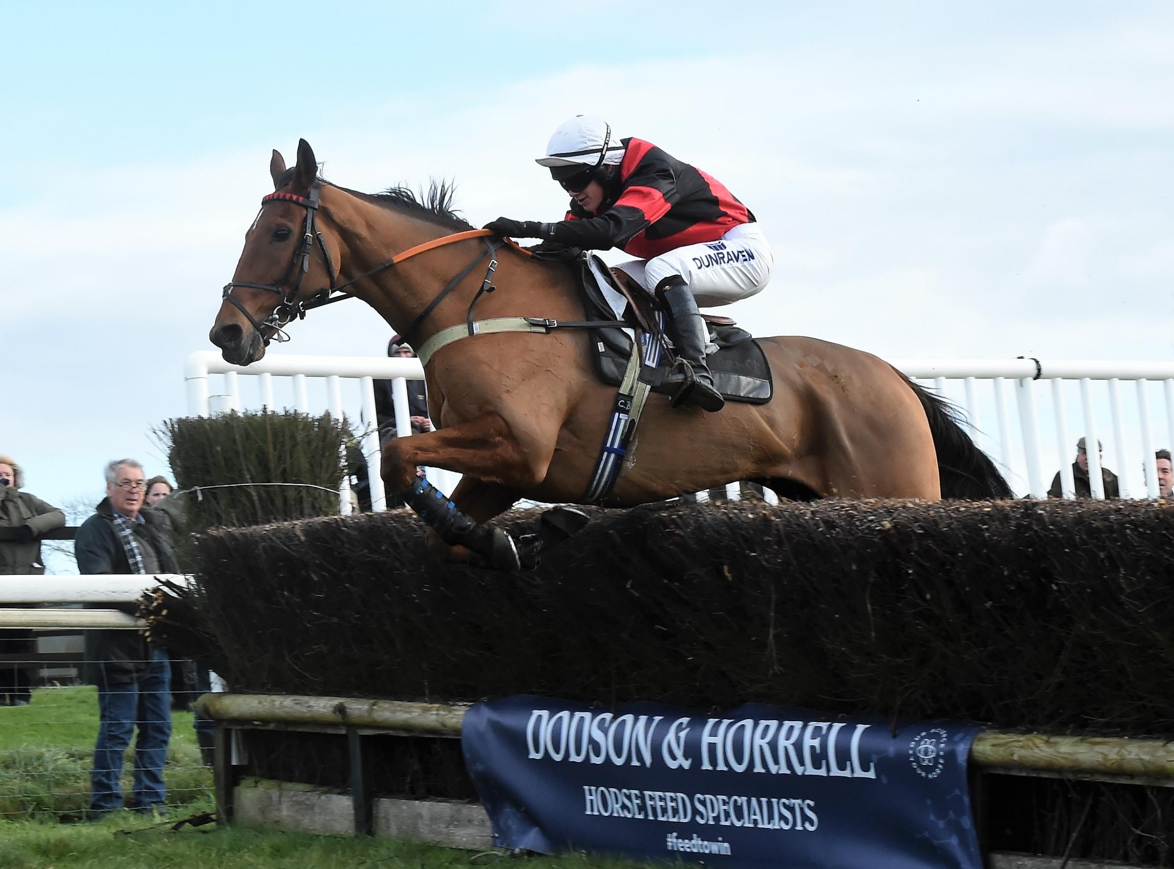 Connor Brace, aged 16, and William Money on their way to victory at Barbury