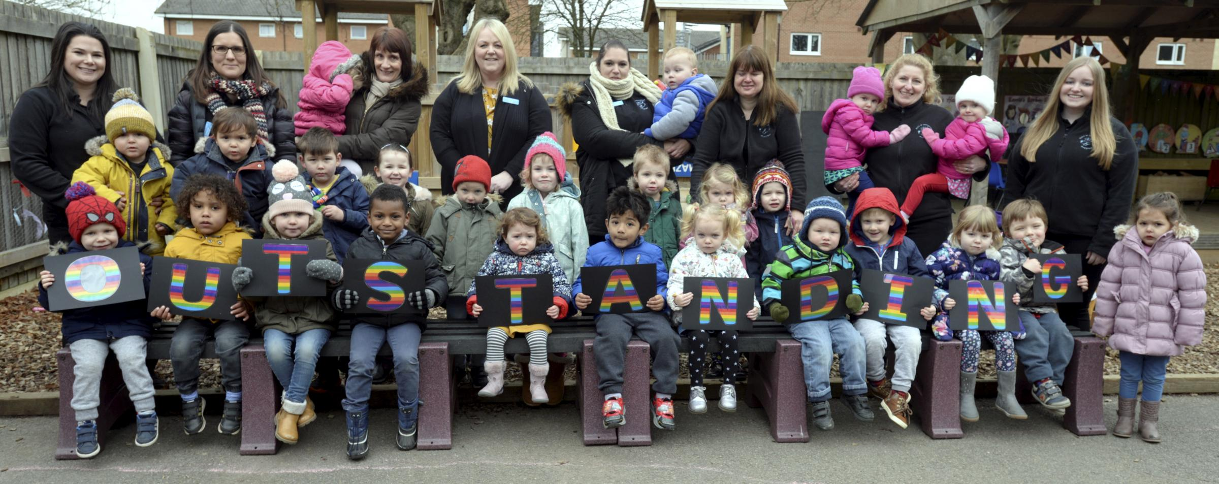 The Duke of Gloucester Playgroup at 29 Regiment RLC, Duke of Gloucester Barracks, South Cerney,which has been awarded an outstanding Ofsted