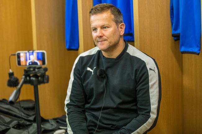 Watch Mark Cooper's pre-Crawley Town press conference