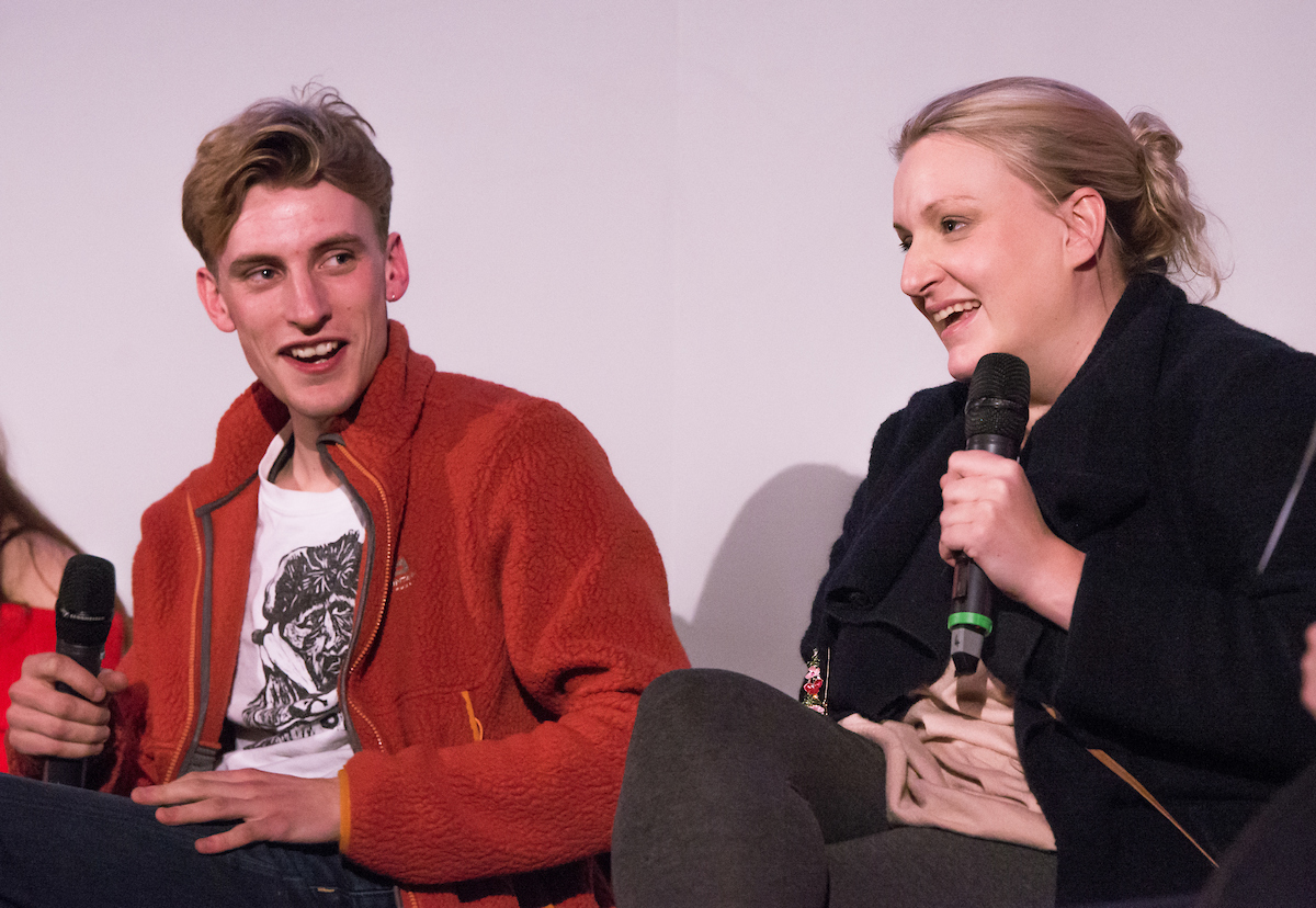 This Country stars Charlie and Daisy Cooper during their Q and A in Bingham Hall, Cirencester last week. Pic BBC