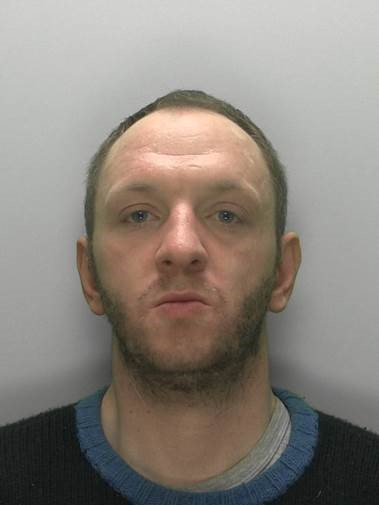 David Collins who was sentenced to 14 weeks in jail for racially abusing shop staff. Pic Cotswolds Police