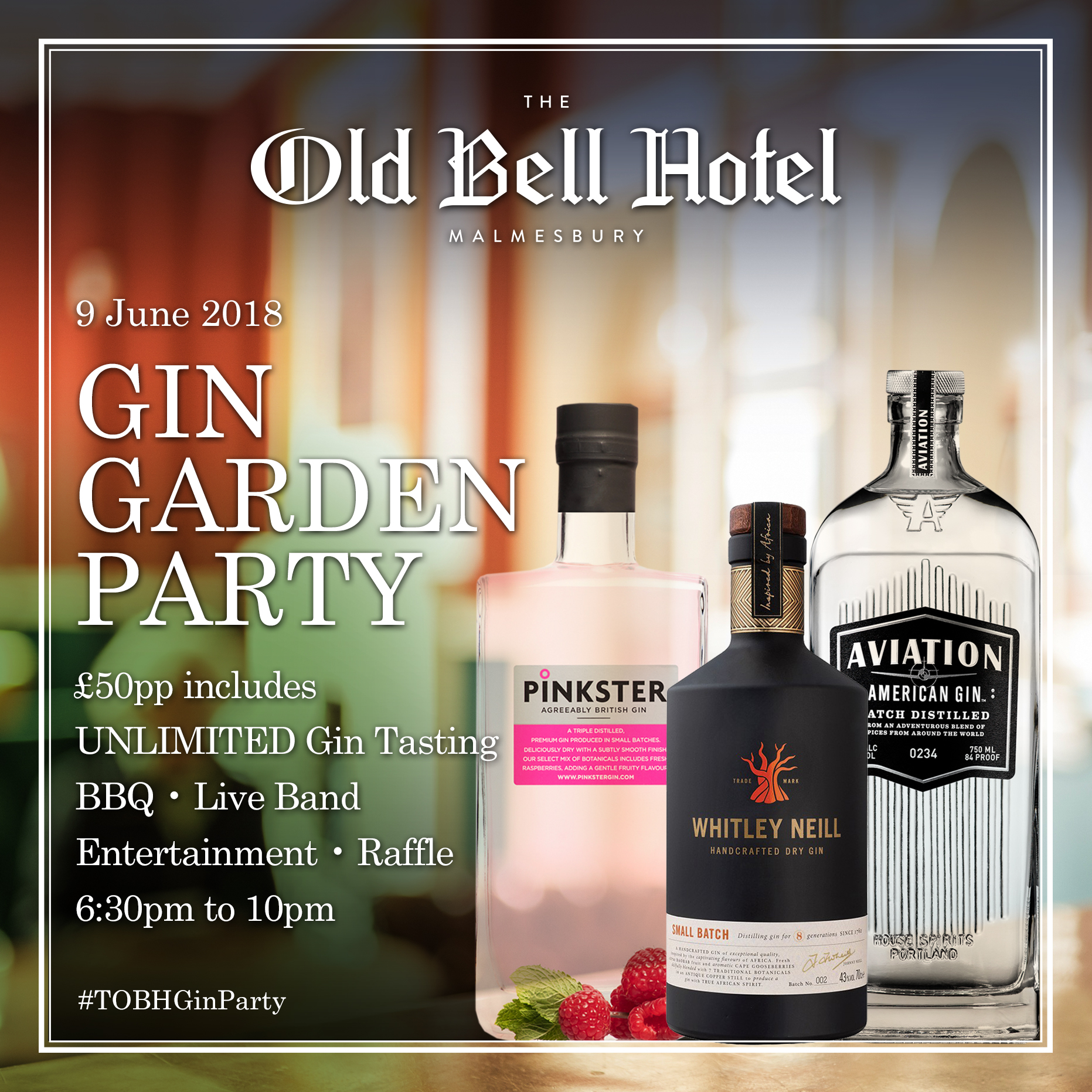 The Old Bell Hotel Gin Garden Party
