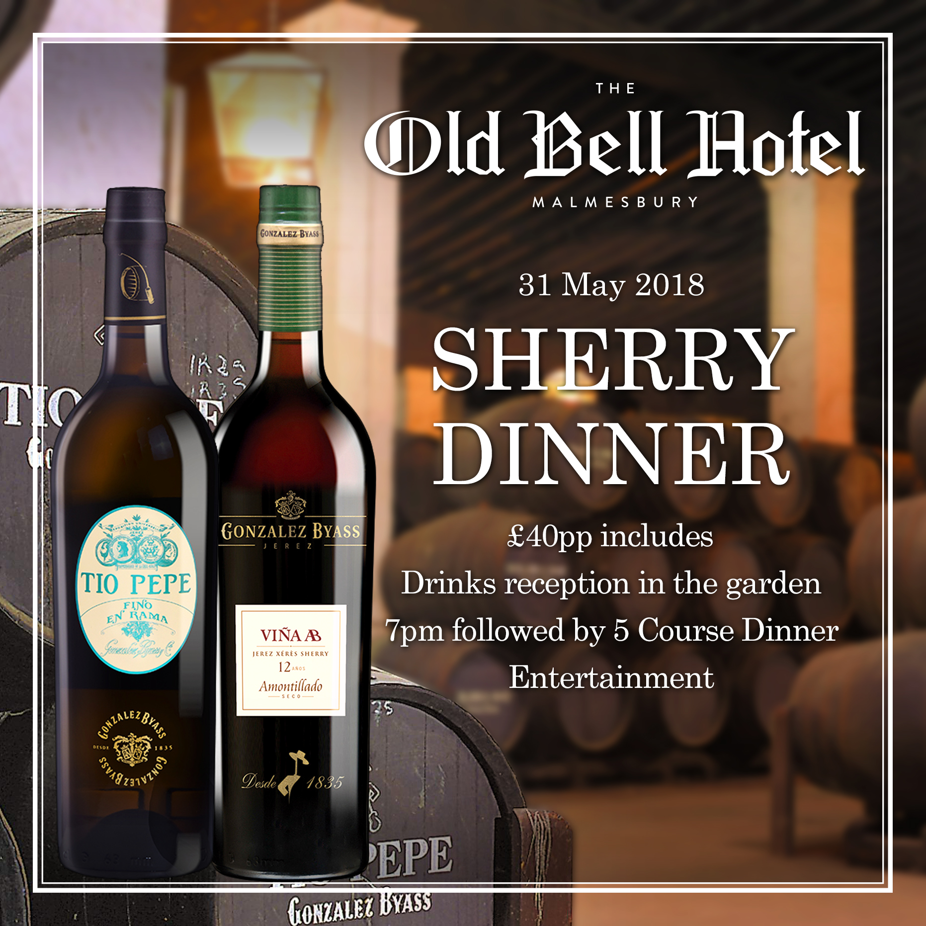 The Old Bell Hotel's Sherry Dinner