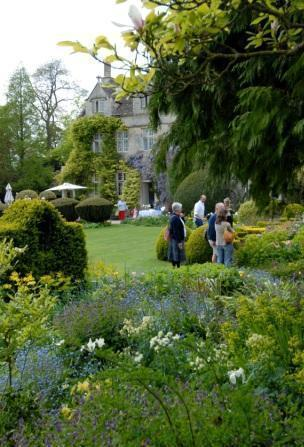 Visitors enjoy Barnsley House Gardens