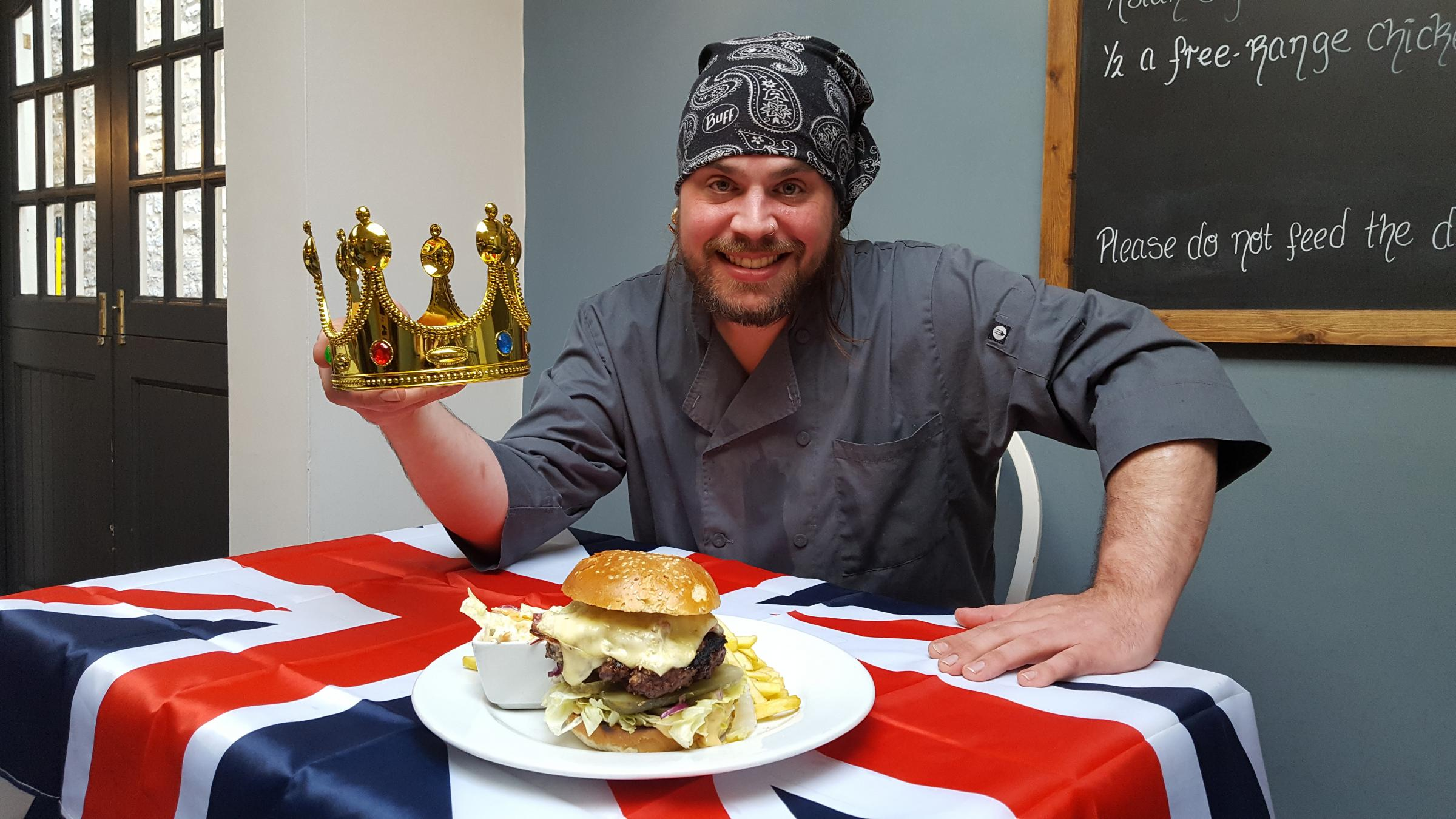 Chef Toby Refoy and the Burger Royale