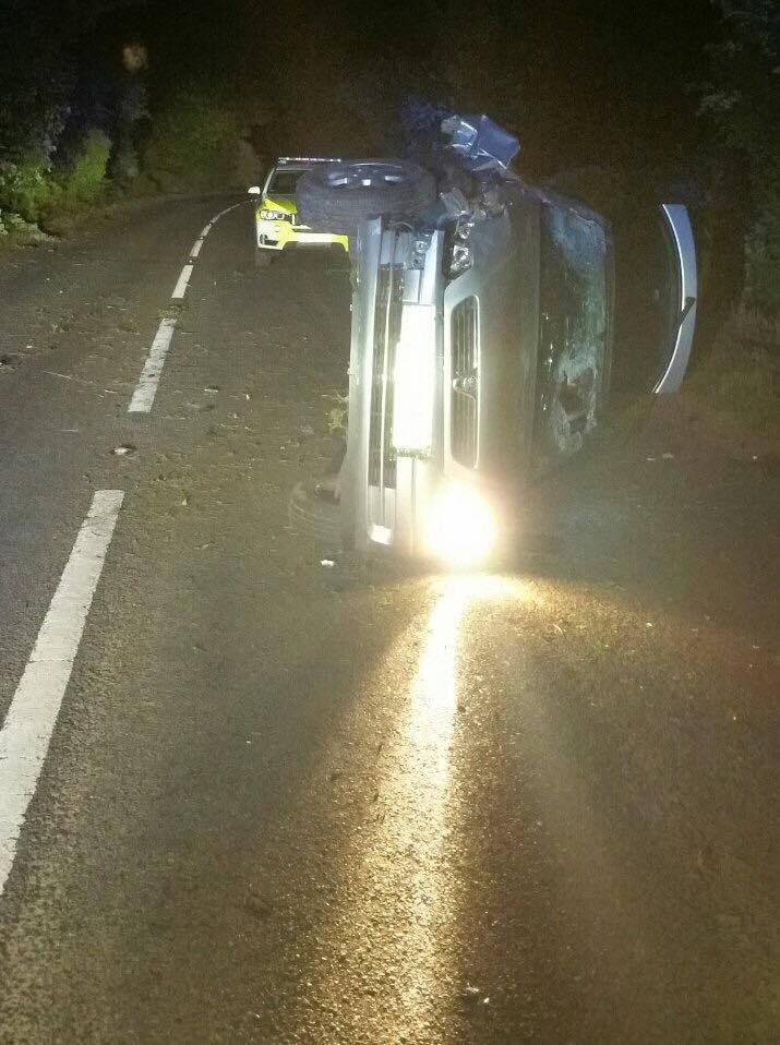 Police have arrested a driver who was involved in an accident outside Bibury on suspicion of drink driving this morning