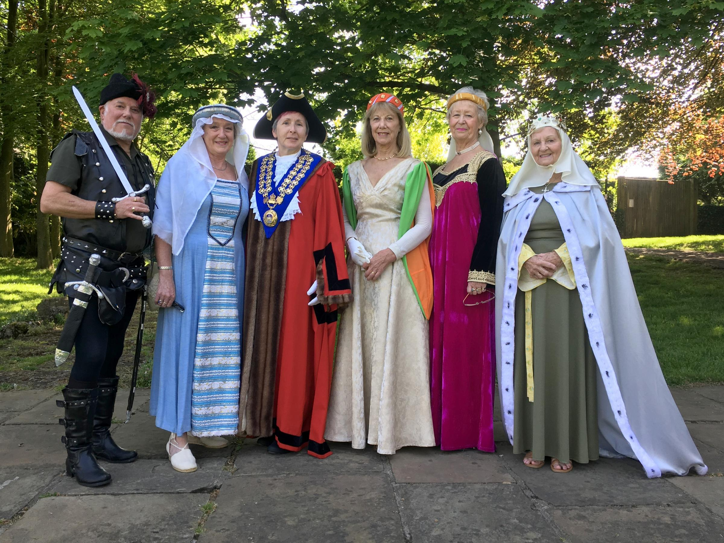 Malmesbury Mayor Vandelli third from left at St Aldhelm's fair last weekend
