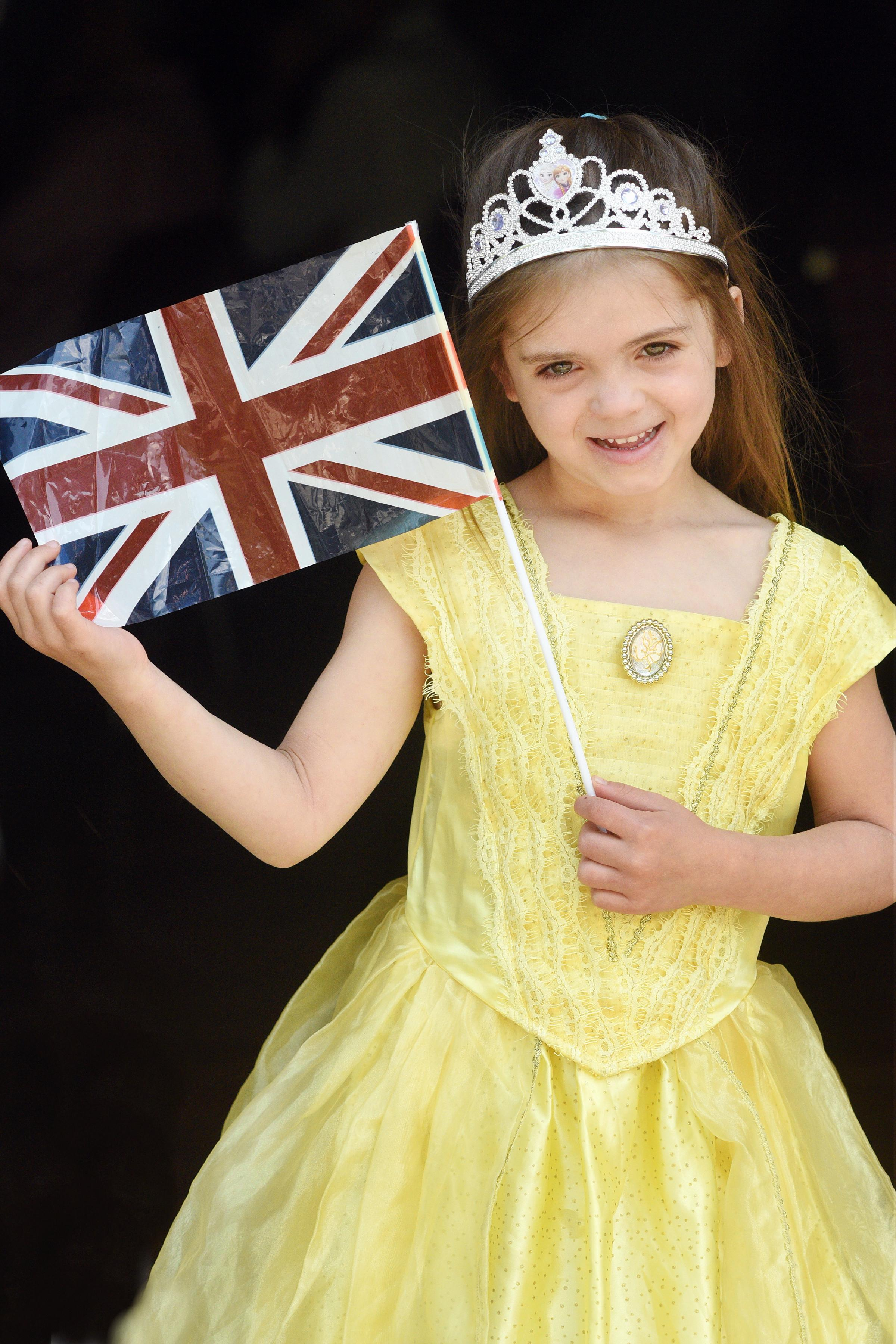 Mya Bridgeman (6)   stole the show in her tiara and princess dress. Photograph Simon Pizzey