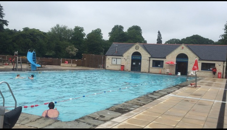 The open air pool re-opened this morning