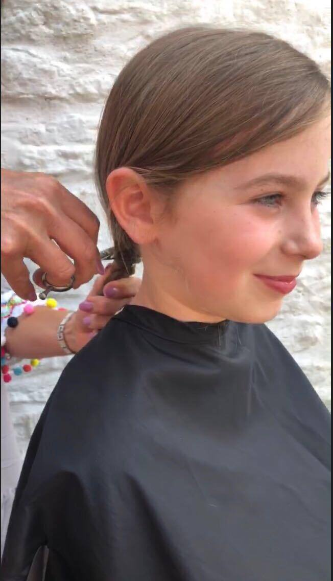 Isabelle raised £1,200 for the princess trust and also donated her hair to the charity