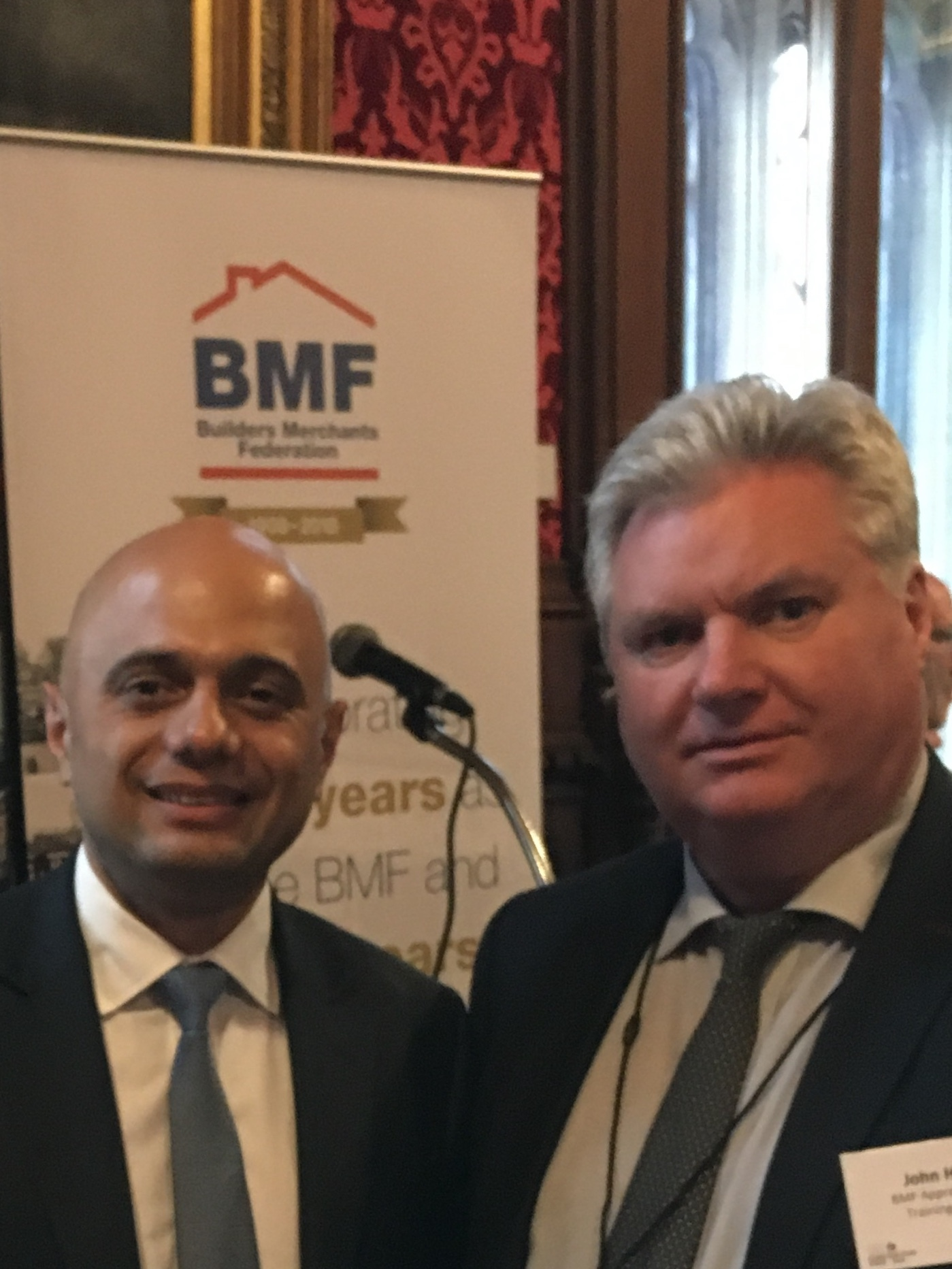 MP Sajid Javid pictured with John Henry.
