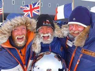 Henry Adams, Henry Worsley and Will Gow are all descended from the crew of Sir Earnest Shackleton's Nimrod expedition