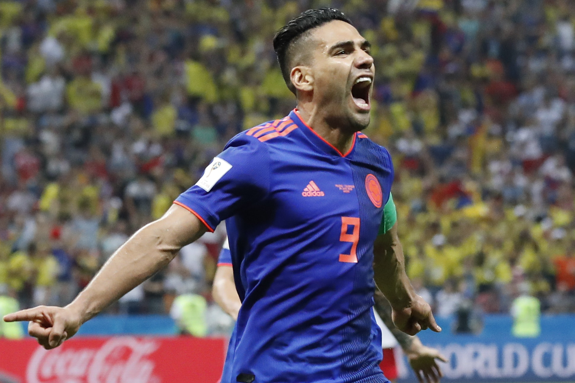 Radamel Falcao scored as Colombia used to a victory (Frank Augstein/AP)