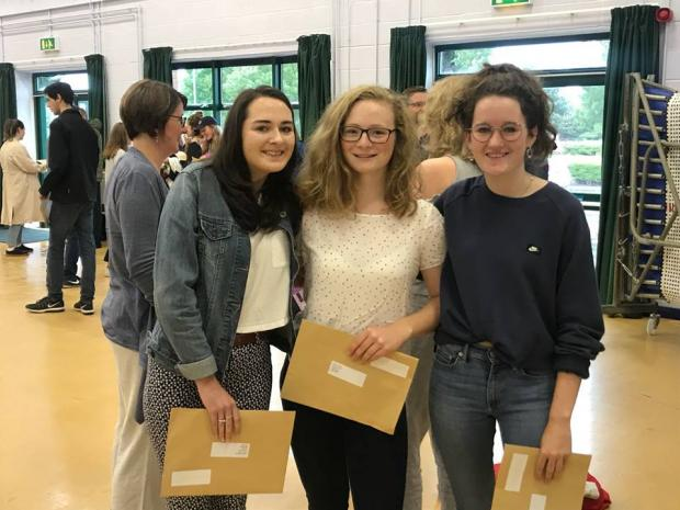 Victoria gordon, Jessica Shaw and Grace Hart from Malmesbury School
