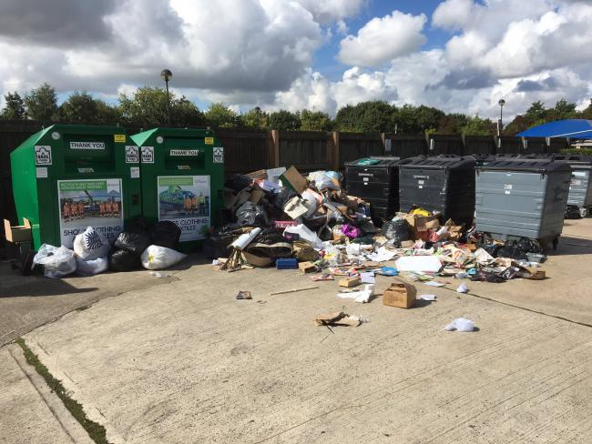 Tesco recycling facility at Kingsmeadow (pictured above) closed after problems with repeated fly-tipping