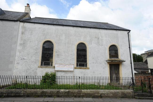 The Moravian Church before its redevelopment