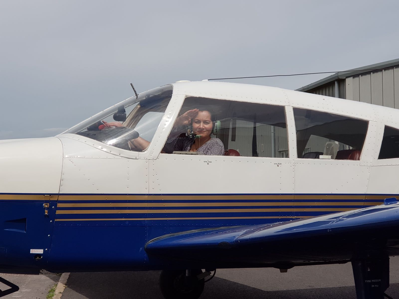 Kathryn Hughes was recently awarded a three week flying scholarship for disabled people.