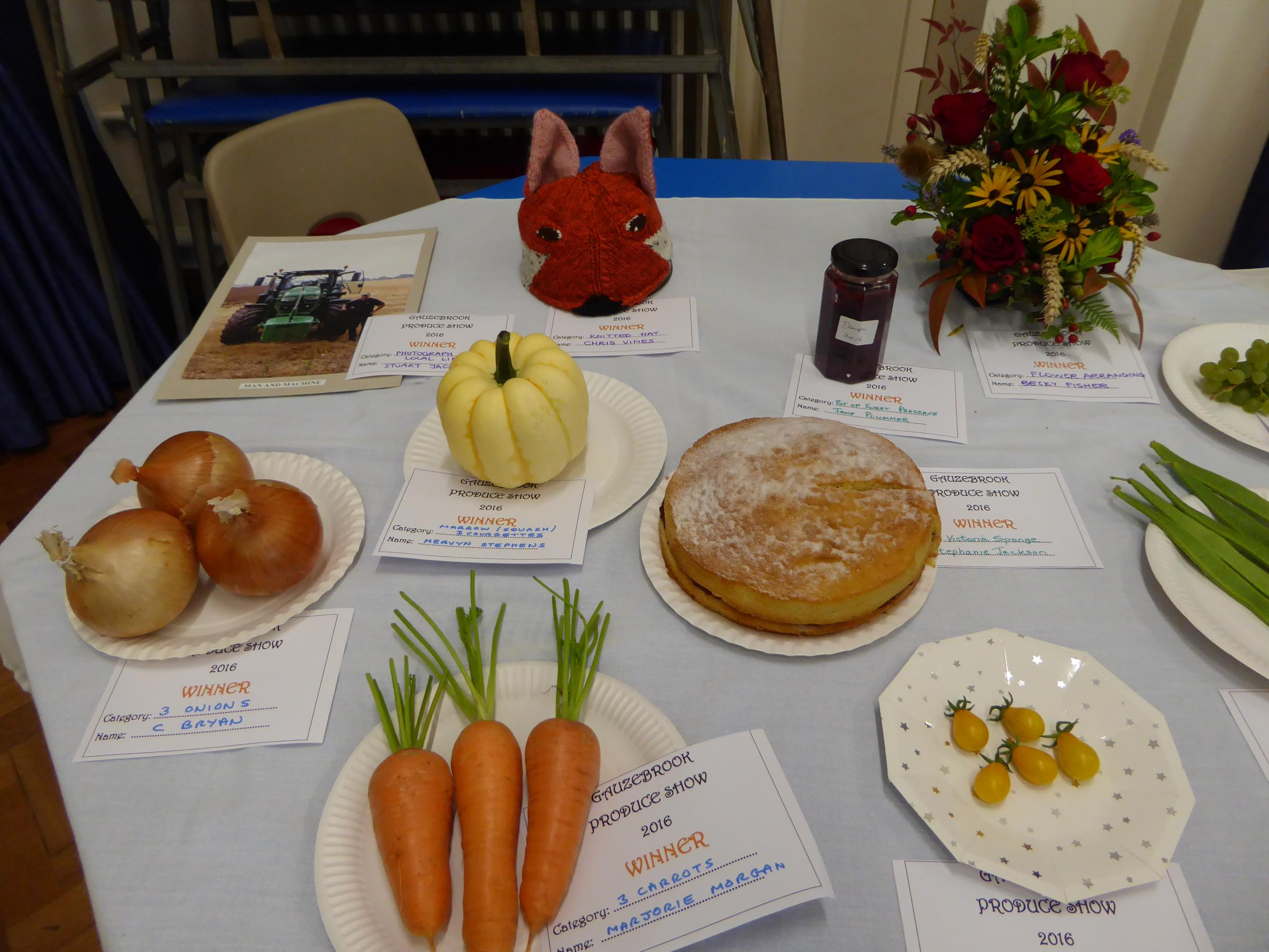 Gauzebrook Villages Produce Show
