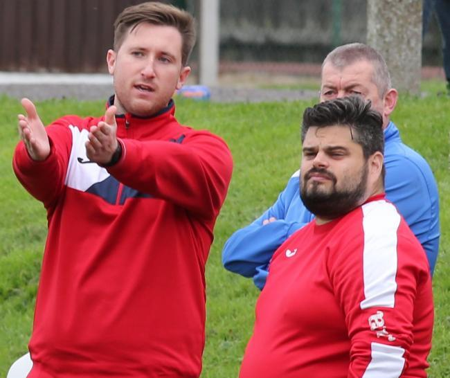 Purton joint managers Liam Lewis and Neil Lee. Picture: Terry Parker